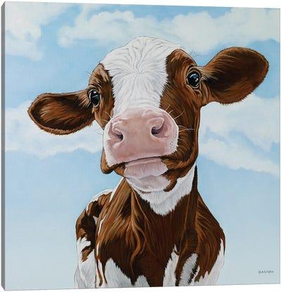 Newborn Calf Canvas Art Print