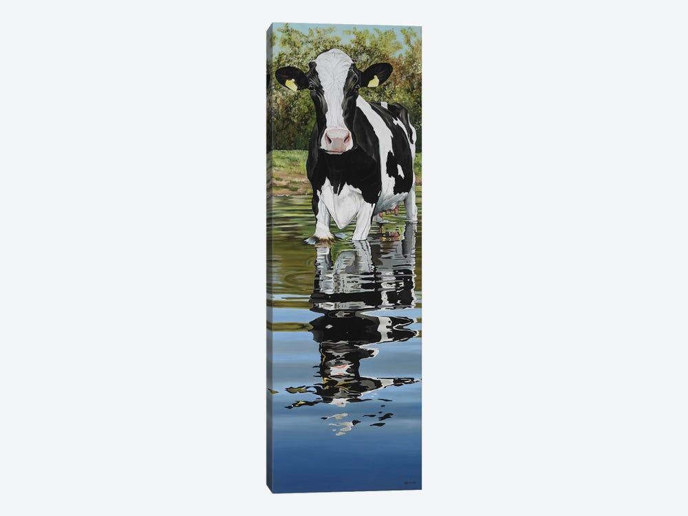 Cow In A Creek by Clara Bastian 1-piece Canvas Art