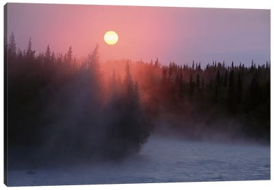 Sunrise Over Kasilof River, Kasilof, Alaska Canvas Art Print