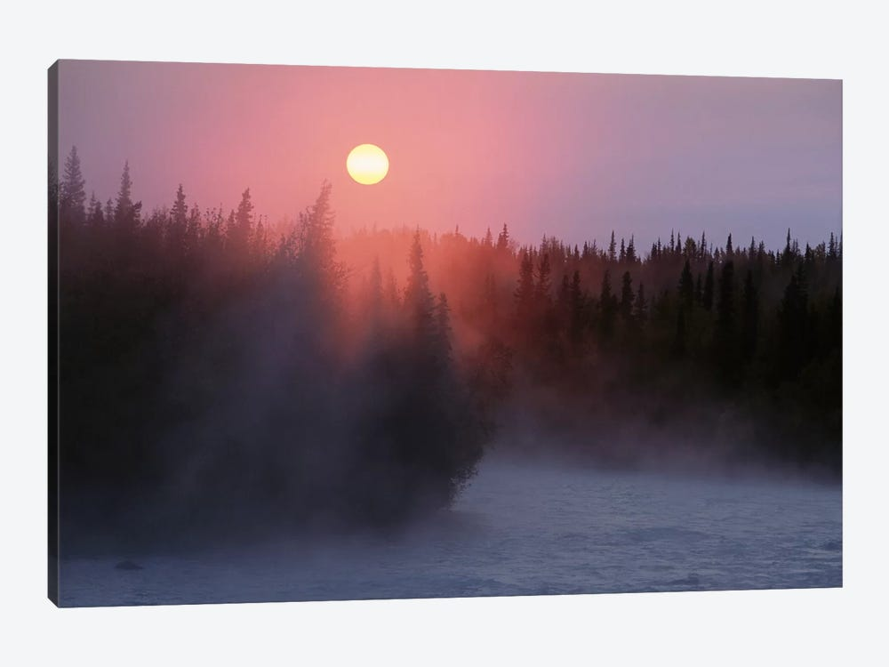 Sunrise Over Kasilof River, Kasilof, Alaska by Matthias Breiter 1-piece Canvas Art Print