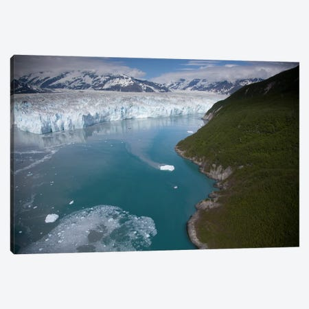 Hubbard Glacier Encroaching On Gilbert Point, Wrangell-St. Elias National Park, Alaska Canvas Print #BTR4} by Matthias Breiter Canvas Art