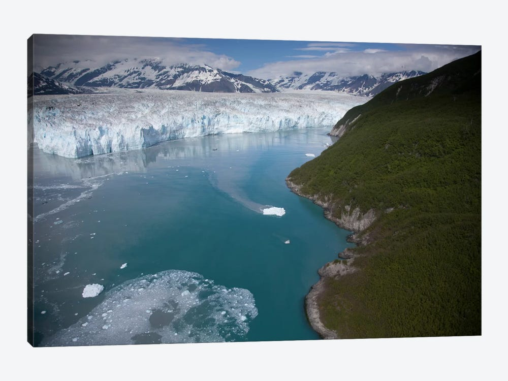 Hubbard Glacier Encroaching On Gilbert Point, Wrangell-St. Elias National Park, Alaska by Matthias Breiter 1-piece Canvas Print