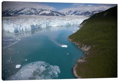 Hubbard Glacier Encroaching On Gilbert Point, Wrangell-St. Elias National Park, Alaska Canvas Art Print