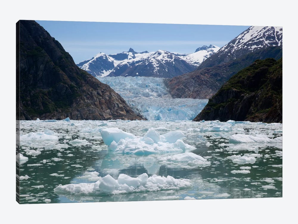 South Sawyer Glacier And Bay Full Of Bergy Bits, Tracy Arm-Fords Terror Wilderness, Tongass National Forest, Alaska by Matthias Breiter 1-piece Canvas Wall Art