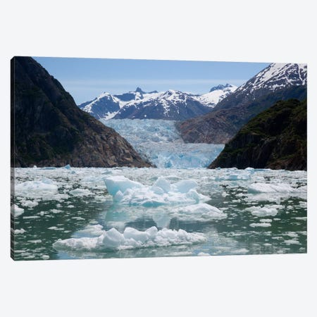 South Sawyer Glacier And Bay Full Of Bergy Bits, Tracy Arm-Fords Terror Wilderness, Tongass National Forest, Alaska Canvas Print #BTR7} by Matthias Breiter Canvas Artwork
