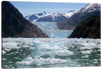 South Sawyer Glacier And Bay Full Of Bergy Bits, Tracy Arm-Fords Terror Wilderness, Tongass National Forest, Alaska Canvas Art Print