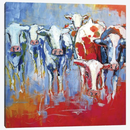 Cows Canvas Print #BTS1} by Luc. Canvas Wall Art