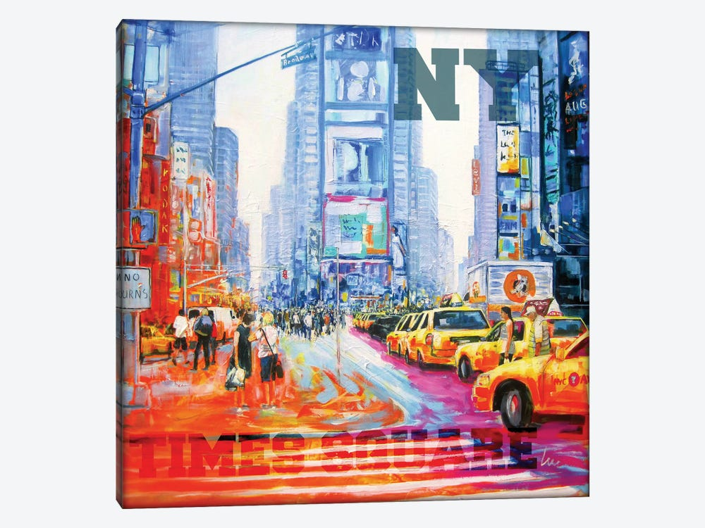 NY Times Square by Luc. 1-piece Canvas Artwork