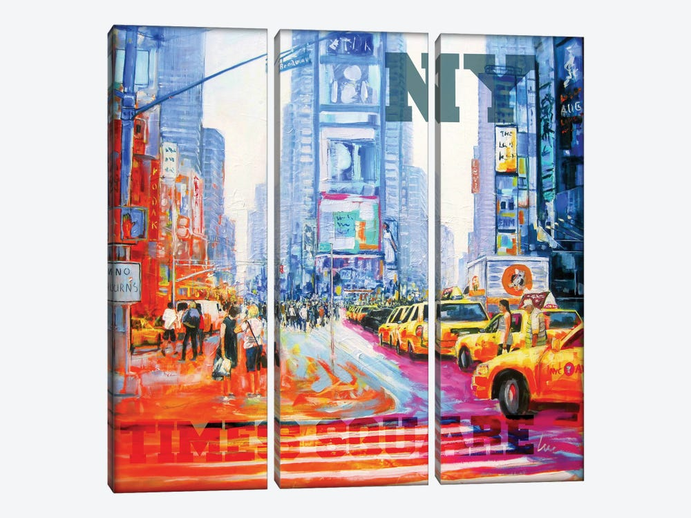 NY Times Square by Luc. 3-piece Canvas Art