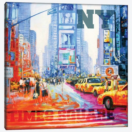 NY Times Square Canvas Print #BTS2} by Luc. Canvas Art