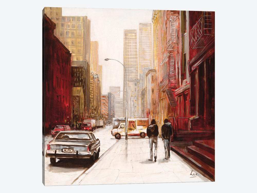 Red Fusion III by Luc. 1-piece Canvas Art Print