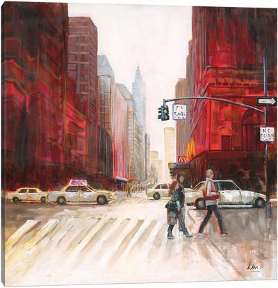 Red Fusion IV Canvas Art Print