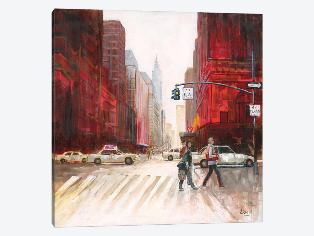 Red Fusion IV by Luc. 1-piece Canvas Art