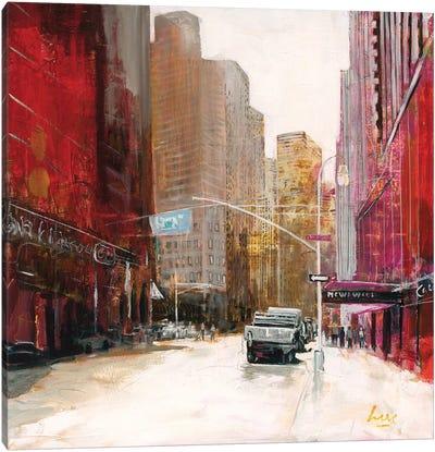 Red Fusion V Canvas Art Print