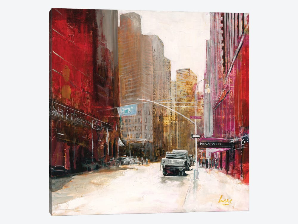 Red Fusion V by Luc. 1-piece Canvas Art Print