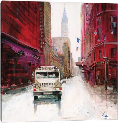 Red Fusion VI Canvas Art Print