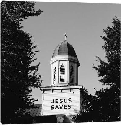 Jesus Saves Charleston Canvas Art Print