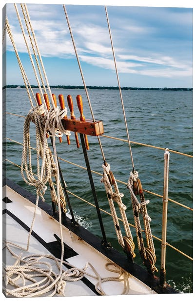 Charleston Sailboat IV Canvas Art Print