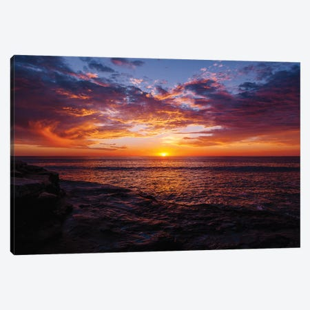 Sunset Cliffs Night III Canvas Print #BTY1124} by Bethany Young Art Print