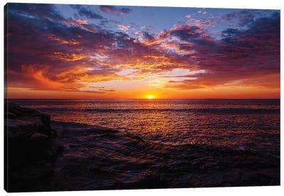 Sunset Cliffs Night III Canvas Art Print