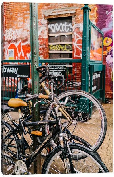 Brooklyn Bike II Canvas Art Print