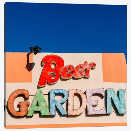 Marfa Beer Garden Canvas Print #BTY1182} by Bethany Young Canvas Wall Art