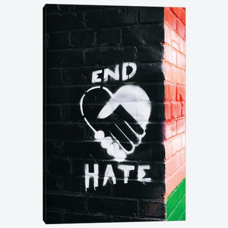 End Hate Canvas Print #BTY1204} by Bethany Young Canvas Artwork