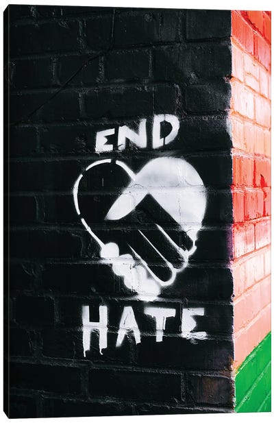 End Hate Canvas Art Print