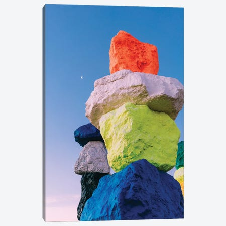 Seven Magic Mountains Moon V Canvas Print #BTY1231} by Bethany Young Canvas Art
