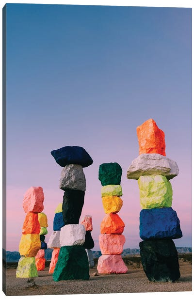 Seven Magic Mountains Sunrise II Canvas Art Print