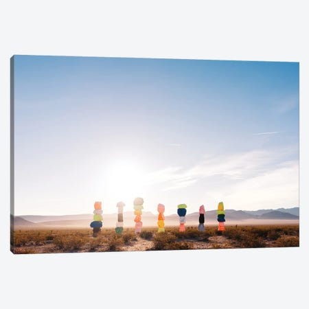 Seven Magic Mountains Sunrise V Canvas Print #BTY1237} by Bethany Young Canvas Art Print