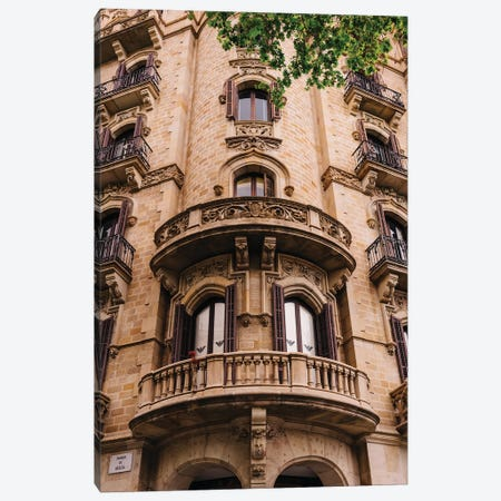 Barcelona Architecture II Canvas Print #BTY1245} by Bethany Young Canvas Art