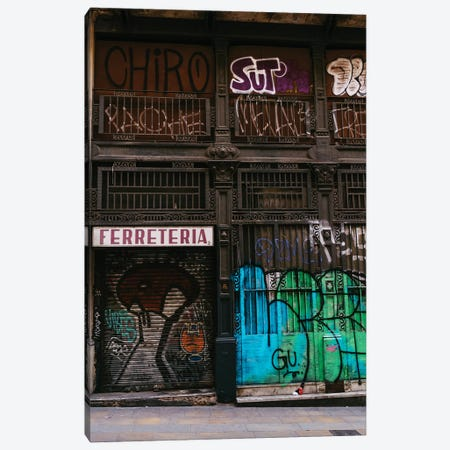 Barcelona Graffiti II Canvas Print #BTY1264} by Bethany Young Canvas Art