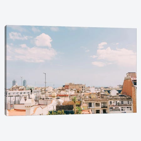 Barcelona Rooftops Canvas Print #BTY1269} by Bethany Young Canvas Art Print