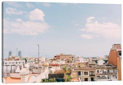 Barcelona Rooftops Canvas Art Print