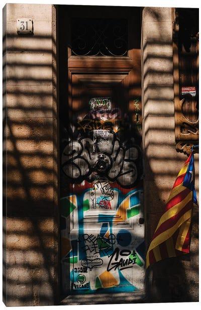Barcelona Shadows Canvas Art Print