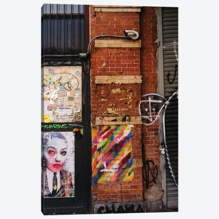 East Village Street Art IV Canvas Print #BTY1328} by Bethany Young Canvas Artwork