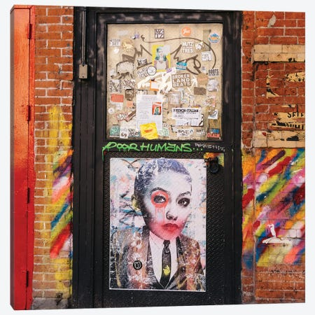 East Village Street Art V Canvas Print #BTY1329} by Bethany Young Canvas Artwork