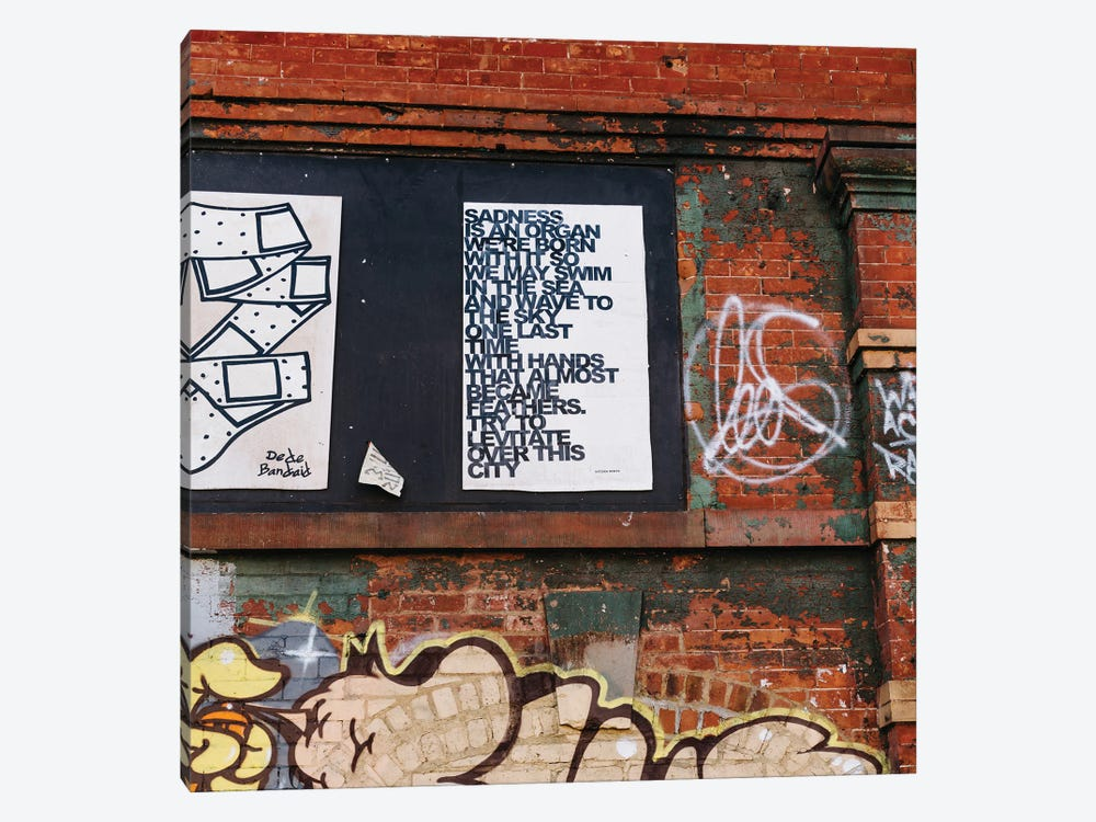 East Village Street Art VII by Bethany Young 1-piece Canvas Print