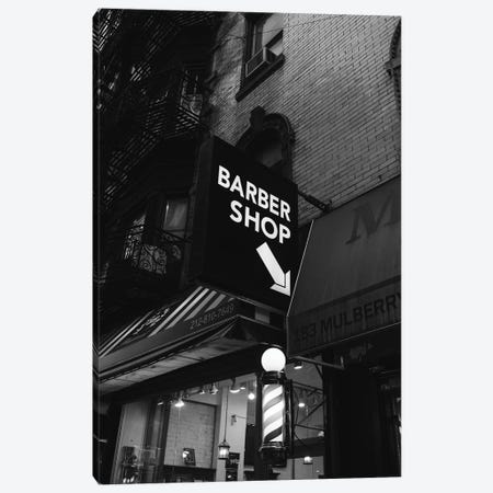 Manhattan Barber Shop Canvas Print #BTY1335} by Bethany Young Canvas Wall Art