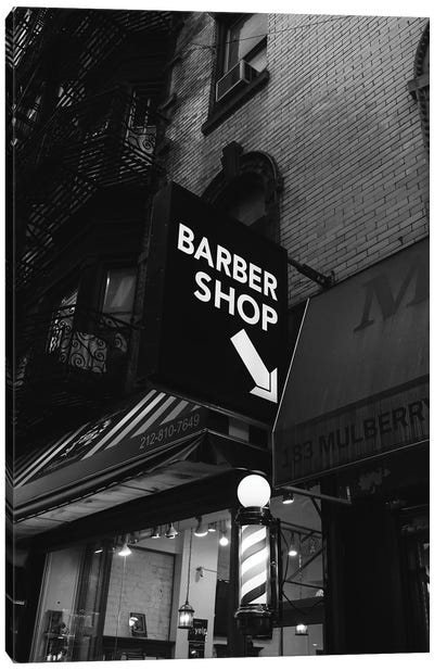 Manhattan Barber Shop Canvas Art Print