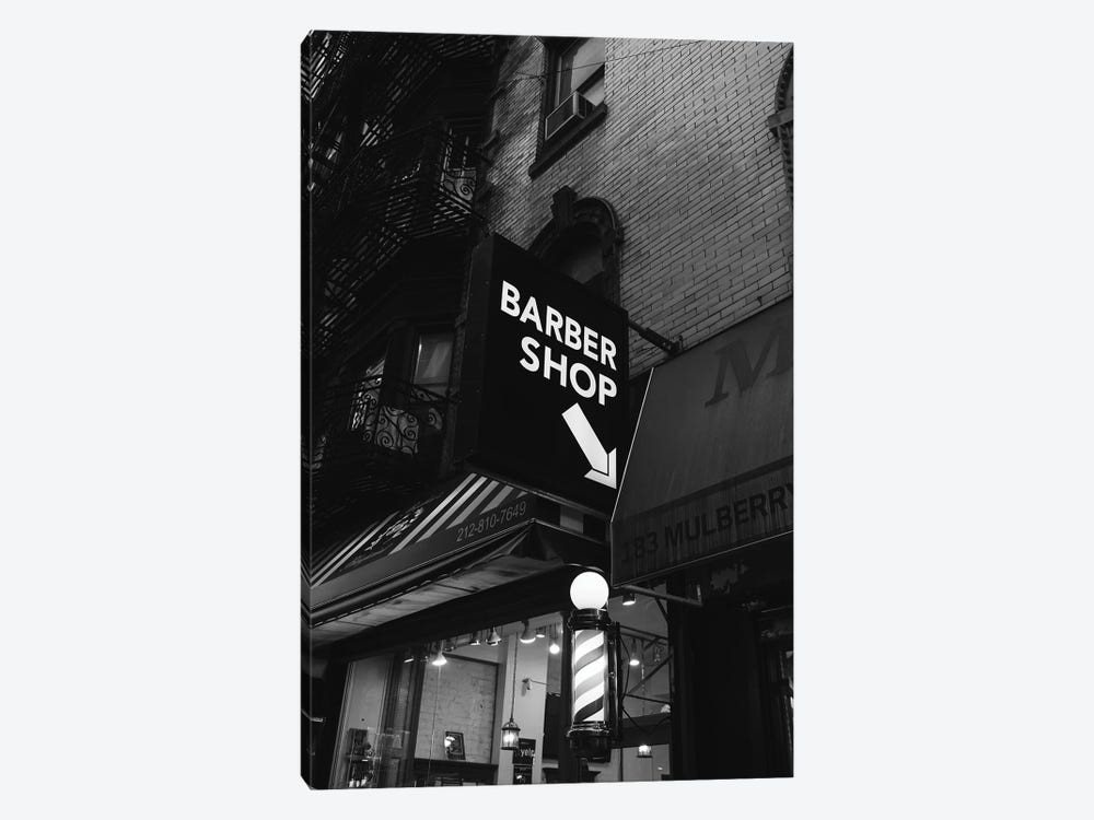 Manhattan Barber Shop by Bethany Young 1-piece Canvas Art Print