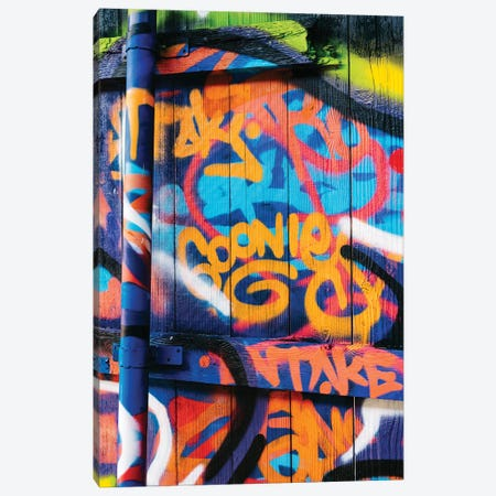 Goonies Graffiti Canvas Print #BTY1384} by Bethany Young Art Print