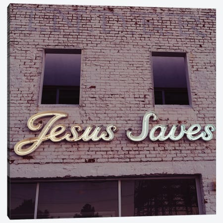 Jesus Saves III Canvas Print #BTY1389} by Bethany Young Canvas Artwork