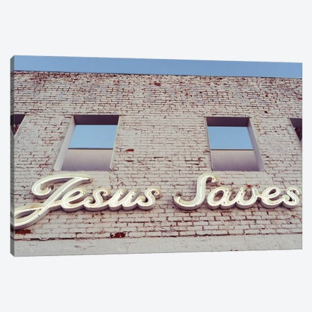 Jesus Saves Canvas Print #BTY1390} by Bethany Young Canvas Art Print