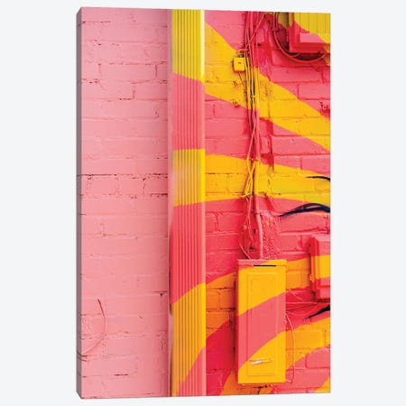 Pink And Yellow Canvas Print #BTY1391} by Bethany Young Canvas Art Print