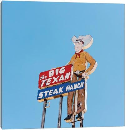 Big Texan Canvas Art Print