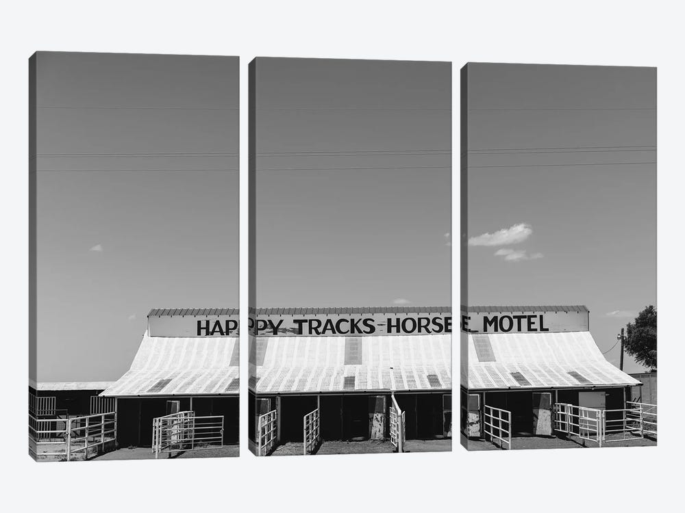 Horse Motel by Bethany Young 3-piece Canvas Print