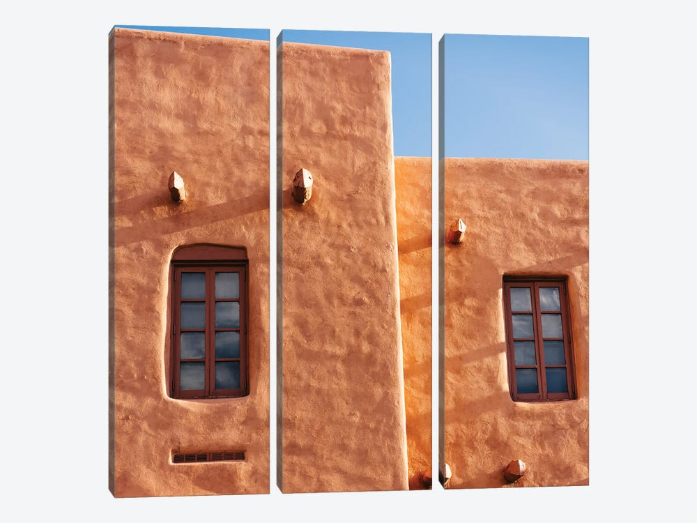 Santa Fe Architecture III by Bethany Young 3-piece Canvas Art
