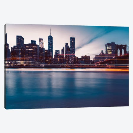 New York Lights Canvas Print #BTY142} by Bethany Young Canvas Wall Art
